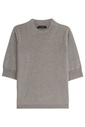 Piazza Sempione Short Sleeve Cashmere Top Brown