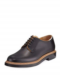 Valentino Two Tone Leather Lace Up Derby Shoe Black