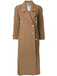 Chanel Vintage Double Breasted Coat Brown
