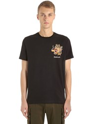 Mhi Dragon Embroidered Cotton Jersey T Shirt