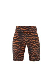 The Upside Tiger Print High Rise Cycling Shorts Animal