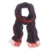 J.Crew Collection Cashmere Scarf In Dot Navy