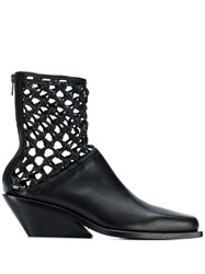 Ann Demeulemeester Weaved Detail Boots Black