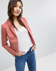 Asos Ponte Jacket With Shawl Collar Detail Dusty Pink