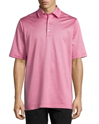 Bobby Jones Hagen Jacquard Polo Shirt Raspberry