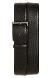 Men's Big And Tall Boss 'Perries' Leather Belt Black