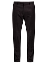 Valentino Straight Leg Cotton Gabardine Chino Trousers Navy