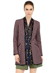 Bazar De Luxe Embellished Quilted Cotton Jacket
