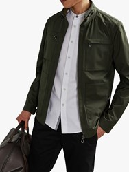 Ted Baker Exmoth Funnel Neck Jacket Khaki