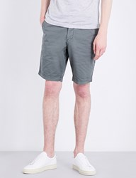 Boss Regular Fit Stretch Cotton Shorts Dark Green