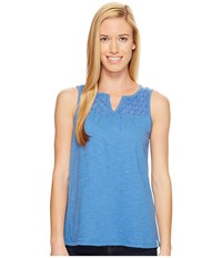 Woolrich Bell Canyon Eco Rich Tank Top Lapis Women's Sleeveless Navy