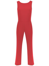 Egrey Cut Out Detail Jumpsuit Red
