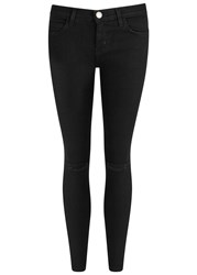 Current Elliott The Stiletto Black Ripped Skinny Jeans