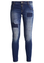 Mos Mosh Bradford Slim Fit Jeans Blue Denim Destroyed Denim