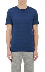 Theory Men's Gaskell N. Striped T Shirt Blue