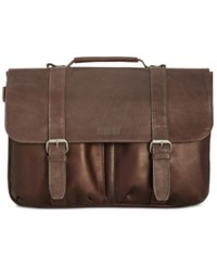 Kenneth Cole Reaction Men's Colombian Leather Computer Portfolio Brown