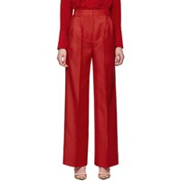 Fendi Red High Waisted Flare Trousers