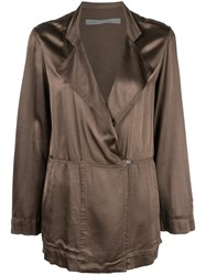 Raquel Allegra Oversized Wrap Jacket Green