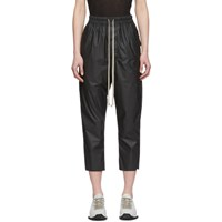 Rick Owens Black Cropped Astaire Trousers