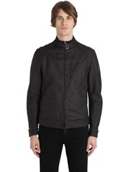 Belstaff H Racer Rubberized Cotton Jacket