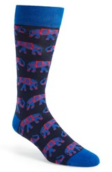Ted Baker London Elephant Socks Navy