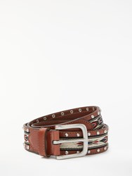 And Or Kelly Aztec Embroidered Belt Tan
