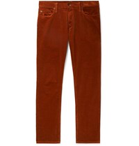 Todd Snyder Garment Dyed Cotton Blend Corduroy Trousers Brown