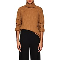 Barneys New York Cashmere Oversized Sweater Camel