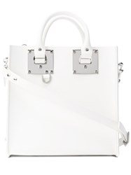 Sophie Hulme Square Cross Body Bag Women Leather One Size White