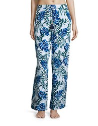 Tommy Printed Wide Beach Pants White