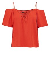 First And I Fitea Print Tshirt Rooibos Tea Light Red