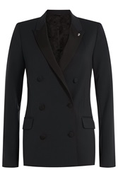 Zadig And Voltaire Blazer With Wool Blue