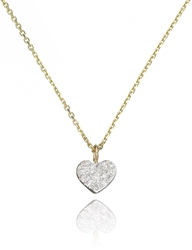 Sarah Chloe Gold Diamond Heart Pendant