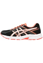 Asics Gelcontend 4 Neutral Running Shoes Black Silver Flash Coral