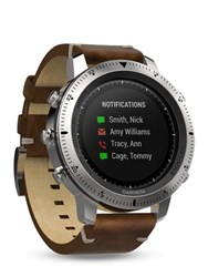Garmin Fenix Steel And Leather Chrono Watch