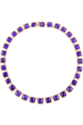 Larkspur And Hawk Bella Rose Gold Dipped Amethyst Rivia Re Necklace
