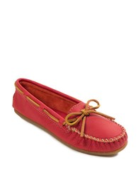 Minnetonka Leather Boat Moc Red