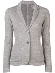 Majestic Filatures Classic Fitted Blazer Grey