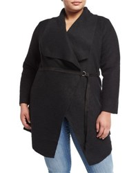 Bb Dakota Plus Belted Shawl Collar Cardigan Black
