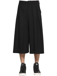 Mcq By Alexander Mcqueen Pleated Cool Wool Cropped Pants
