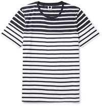 Nn.07 Trevor Striped Cotton Jersey T Shirt Blue