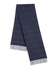 Saks Fifth Avenue Donegal Plaid Scarf Berry