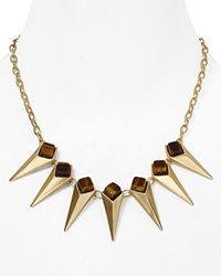 Dylan Gray Spike Collar Necklace 17 Gold
