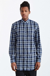Zanerobe Eight Foot Plaid Button Down Shirt Navy