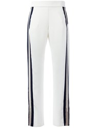 Aviu Striped Side Track Pants White