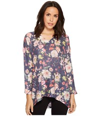 Nally And Millie Floral V Neck Top Multi Clothing