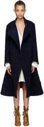 Chloe Navy Oversized Wool Coat
