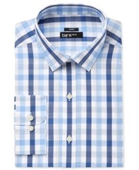 Bar Iii Men's Slim Fit Stretch Blue Bold Multi Gingham Dress Shirt Only At Macy's