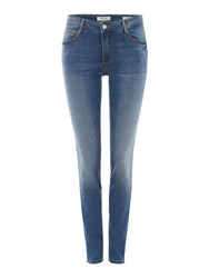 Guess Curve X Skinny Jeans In Palm Blue Denim Mid Wash