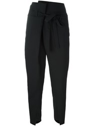 Ann Demeulemeester Belted Cropped Trousers Black